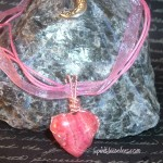 Rhodochrosite Heart - Wire Wapped by Starlene