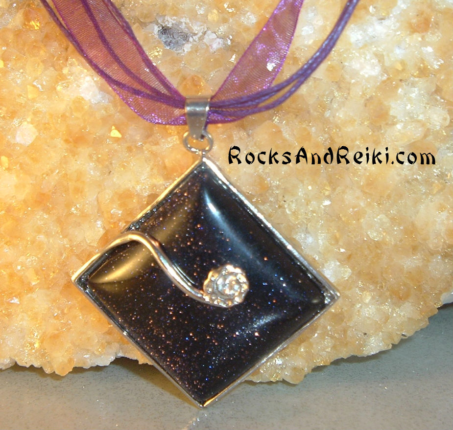 Sparkles of Alchemy Necklace – Reiki Blessed Goldstone ...