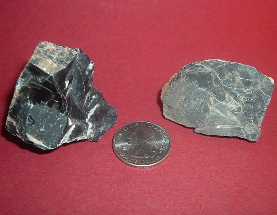 2 Black Onyx Raw Chunks Align Me With My Higher Powers