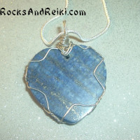 Lapis Lazuli Wire Wrapped Necklace  (back)
