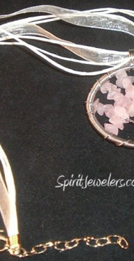 Rose Quartz Tree of Life Necklaces