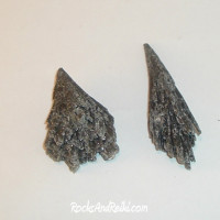 2 Black Kyanite Fans