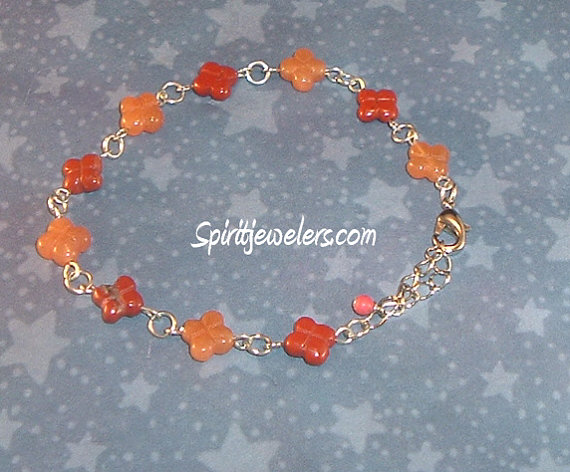 Stabilize Your Aura – Carnelian Agate Flower Shaped ...