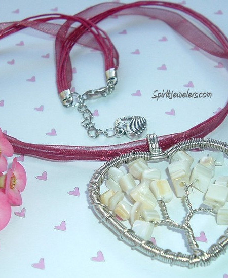 MothMother of Pearl - Tree of Life Necklaceer of Pearl - Tree of Life Necklace