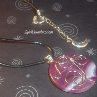Purple Onyx Wire Wrapped Pendant