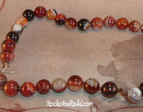 Beautiful Knotted Carnelian Agate Gemstone Necklace ...